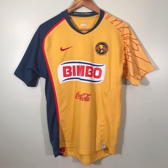 size 40 24719 6bb17 Nike CA Club America Bimbo Soccer Jersey